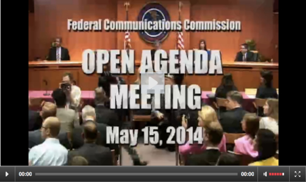 May open commission meeting